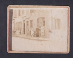 Photo Ancienne Contrecollée Etain Boulangerie Micop Jolly Animée Rue Nationale - Etain