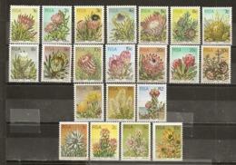 Afrique Du Sud South Africa 1977 Fleurs Flowers Set Complete MNH ** - África Del Sur (1961-...)