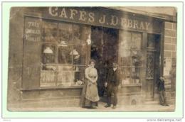 DONJEUX , Carte Photo , Epicerie , Cafés J. Debray - France