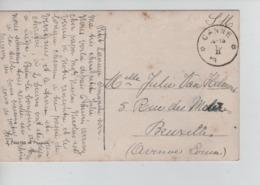 CBPN17/ CP Fantaisie En S.M. écrite De Petit-Lanaye C.Relais - étoile Fortune Canne (Kanne) En Février 1919 > BXL - Sternenstempel