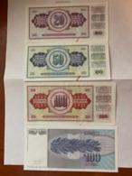 Yugoslavia   Dinara  Uncirc.  Banknotes 1981 - Jugoslawien