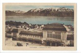 23573 - Lausanne La Gare Et Les Alpes Tram Pub Zenith - VD Vaud