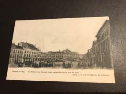 Oostende - Ostende -  EN 1845 LE MARCHE AUX LEGUMES AVEC PERSPECTIVE DE LA RUE DU QUAI - Ed. A.E. - Oostende