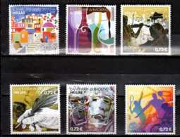 2017 Greece - Grüssmarke/ Greeting Stamps - Wine, Sports, LItheratur, Music - Set Of 6 V - Paper - MNH** MI 2937/42 - Griechenland