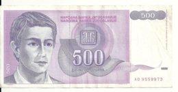 YOUGOSLAVIE 500 DINARA 1992 VF P 113 - Joegoslavië