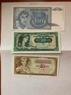 Yugoslavia   Dinara  Uncirc.  Banknotes 1981 - Joegoslavië