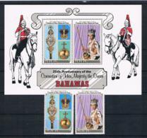 Bahamas 1978 Königin Mi.Nr. 432/33 Kpl. Satz + Block 24 ** - Bahama's (1973-...)