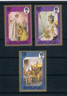 Brunei 1978 Königin Mi.Nr. 218/20 Kpl. Satz ** - Brunei (1984-...)