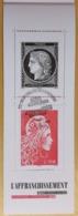 L'AFFRANCHISSEMENT Cérès Noire 1849 MARIANNE 2018 - BANDE CARNET - SALON AUTOMNE 2019 - OBLITERE 1er JOUR 09.11.2019 - Blokken En Velletjes