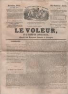 LE VOLEUR 20 06 1844 - MARIN 1er EMPIRE - INDE COMBAT LION TIGRE - BATAILLE DE ROOSEBEKE - TLEMCEN - AERNAUTE KIRSCH - Kranten