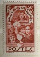 Timbre France YT 312 (*) MH 1936, Au Profit Des Enfants Des Chômeurs 50c+10c (côte 5,35 Euros) – 178i - Ongebruikt
