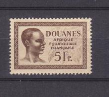 AEF FISCAL DOUANES NEUF SANS CHARNIERE - A.E.F. (1936-1958)