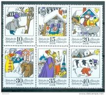 DDR - Mi-Nr. 1995 - 2000 Sechserblock Aus Kleinbogen Märchen Postfrisch - DDR