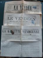 Lot 3 Journaux Timbrés 1870 1873 1885 La Vendée Le Vendéen La Gazette Vendéenne élections Guerre De 70 .... - Journaux - Quotidiens