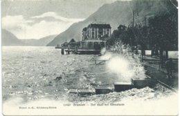 436. Brunnen - Der Quai Bei Föhnsturm - SZ Schwyz