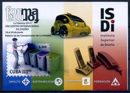 Cuba 2013 / Cars Design Recycling Phones MNH Coches Reciclaje Diseño Telefonos / C6004  C1-1 - Cuba