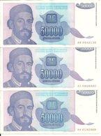 YOUGOSLAVIE 50000  DINARA 1993 XF P 130 ( 3 Billets ) - Joegoslavië