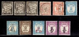 France Belle Petite Collection De Timbres Taxe Neufs Et Oblitérés 1882/1935. Bonnes Valeurs. A Saisir! - Postage Due