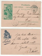 Suisse // Schweiz // Switzerland // Entier Postaux // Entier Postal Pour Vich Le 13.10.1900 (carte Suchard) - Entiers Postaux