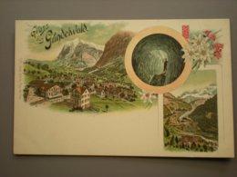 GRINDEWALD - LITHO  CARL KUNZLI - EDELWEISS - BE Bern