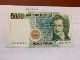 Italy Bellini Uncirculated Banknote 5000 Lira #5 - [ 2] 1946-… : Repubblica