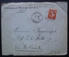 Cette 1910 (Sète) Philéas Souquet & Cie, Lettre Pour Vic Le Comte (Puy De Dôme) - 1877-1920: Période Semi Moderne