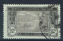 Ivory Coast, 20c., Ebrié Lagoon, 1913, VFU - Ivory Coast (1892-1944)