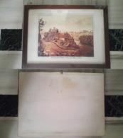 Quadro(5)stampa Veduta Del Castello D Trezzo Fumagalli AB + Cornice (A) - Stampe