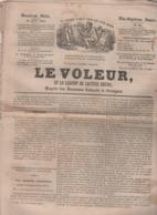 LE VOLEUR 25 06 1844 - MARIN 1er EMPIRE - VOITURIN EN SUISSE - CONSTANTINOPLE RESCHID PACHA - LIMONIERS LAC DE GARDE - - Kranten