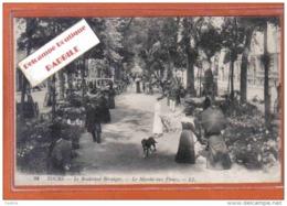 Carte Photo 37. Tours  Le Marché Aux Fleurs Boulevard Béranger  Trés Beau Plan - Tours