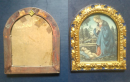 Quadro(18) Immaginetta Madonna Con Bambino 13.9cmx11.9cm + Cornice (A) - Stampe