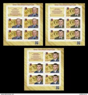 Russia 2019 Heroes Sheetset Of 3  MNH - Ungebraucht