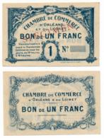 1914-1918 // C.D.C. // ORLEANS / LOIRET // 1914 // SPECIMEN  // Un Franc // Sans Filigrane - Specimen