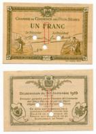 1914-1918 // C.D.C. // DEUX-SEVRES / NIORT // Septembre 1915 // SPECIMEN  // Un Franc // Sans Filigrane - Fictifs & Spécimens