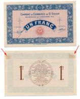 1914-1918 // C.D.C. // ST DIZIER // Novembre 1915 // SPECIMEN  // Un Franc // Sans Filigrane - Fictifs & Spécimens