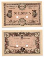 1914-1918 // C.D.C. // MACON-BOURG // Septembre 1915 // SPECIMEN  // Cinquante Centimes // Sans Filigrane - Specimen