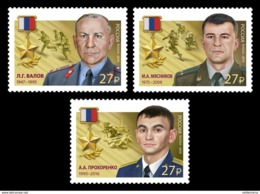Russia 2019 Heroes Set Of 3  MNH - 1992-.... Federation