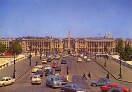 Citroen 2 CV,DS,VW Käfer,Peugeot 403,404,Simca Ariane,Opel Rekord P II...Paris,Place De La Concorde, Gelaufen - PKW