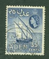 Aden: 1953/63   QE II - Pictorial    SG56   35c   Deep Ultramarine     Used - Aden (1854-1963)