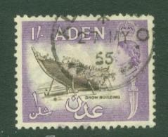 Aden: 1953/63   QE II - Pictorial    SG63   1/-   Black & Violet     Used - Aden (1854-1963)