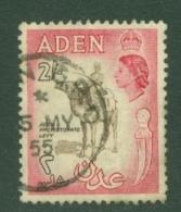 Aden: 1953/63   QE II - Pictorial    SG65   2/-   Sepia & Rose-carmine    Used - Aden (1854-1963)