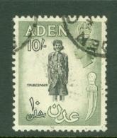 Aden: 1953/63   QE II - Pictorial    SG70   10/-   Black & Bronze-green   Used - Aden (1854-1963)
