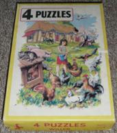 Rare Boite De Puzzles Anciens En Carton, WILLEB Puzzle, LA FERME Animaux - Puzzles