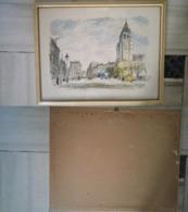 Quadro(15)stampa Michel Cascella Paris + Cornice E Vetro (A) - Stampe