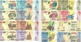 MADAGASCAR Set 8v: 100 200 500 1000 2000 5000 10000 20000 Ariay 2017 P 97 98 99 100 101 102 103 104 UNC - Madagaskar