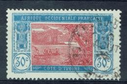 Ivory Coast, 30c., Ebrié Lagoon, 1922, VFU - Ivory Coast (1892-1944)