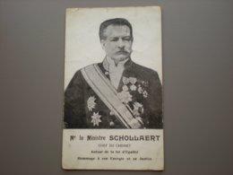 LEUVEN - WILSELE - 1e MINISTRE SCHOLLAERT - POLITIEK - HULDEKAART - CARTE D'HOMMAGE - Leuven