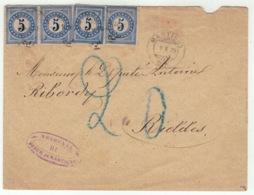 Suisse // Schweiz // Switzerland // Taxe //  Lettre Taxée Au Départ De Martigny Pour Riddes Le 9.10.1879 - Strafportzegels