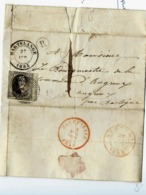 LAC  N° 6 3 Marges  Obl. D34 + Cad Martelange Et Boîte R (Fauvillers)CAD Bastogne Et Houffalize - Postmarks - Lines: Distributions
