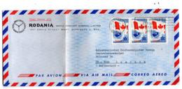 B - Lettera Di Posta Aerea Canada - Rodania Wacht - Relojería